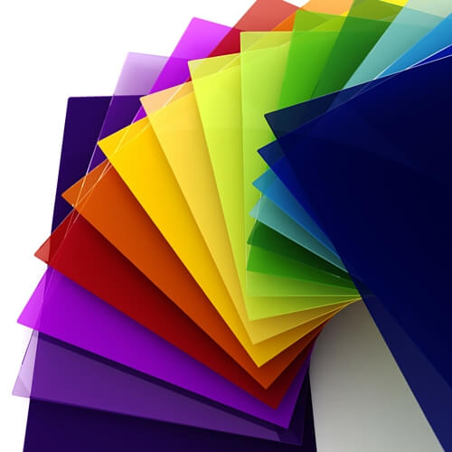 Image of colour plastic for printing