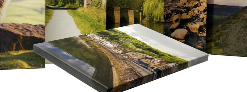 Image of various printed canvases