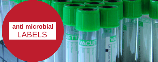 image of anti microbial labels on test tubes