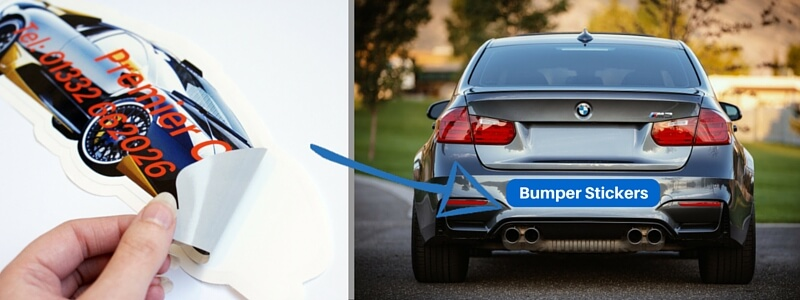 Custom printed car bumper stickers