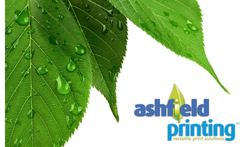 Ash leaf and ashfield printing logo