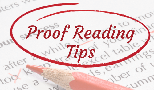 12 Top Tips for Proof Reading