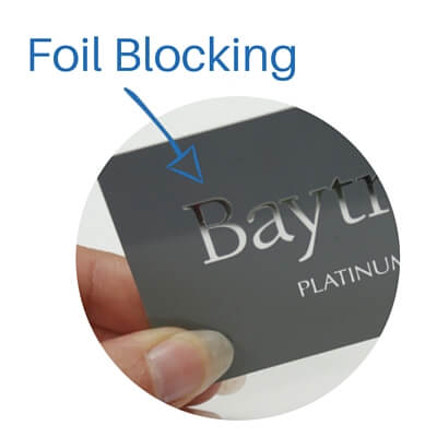 foil blocking on a loyalty card