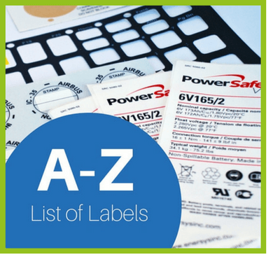 A-Z List of All Labels
