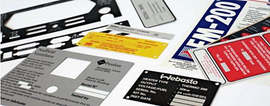 image of various industrial labels