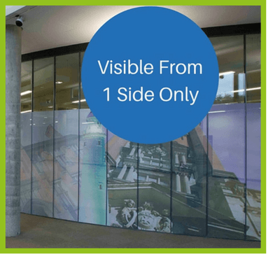 One way window graphics