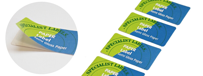 Paper labels stickers images of semi gloss paper labels with full colour print reheart Choice Image