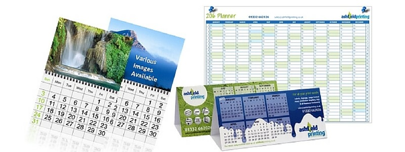 image of printed wall calendars, desk calendars & wall planers