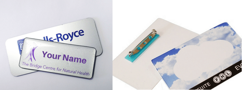 doomed name badges and plastic name badges