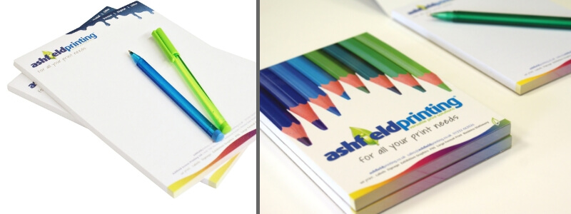 Full colour printed notepads