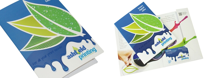 A5 Printed Presentation Folder with Spot UV