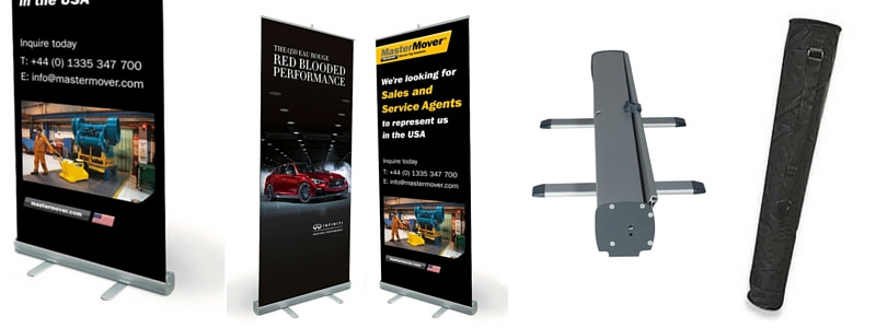 Roller banner with carry case