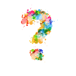 Paint splash question mark - not sure what print you need