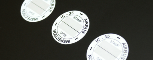 image of circular silver reflective labels