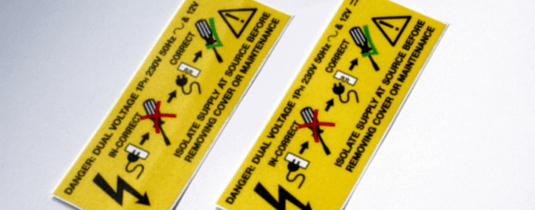 printed safety labels
