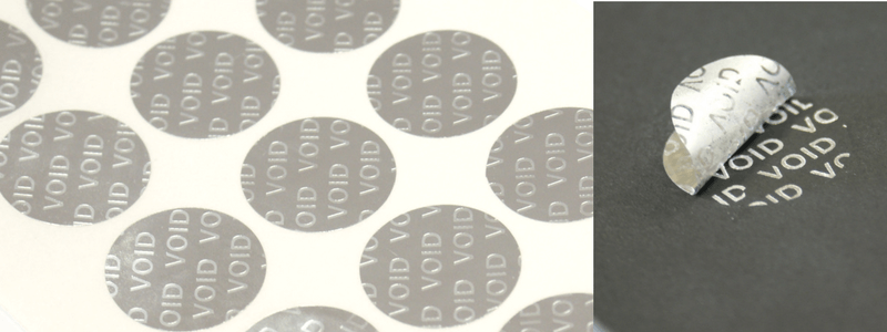 void labels & tamper evident labels