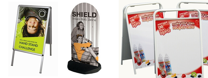 Various types of printed A Boards