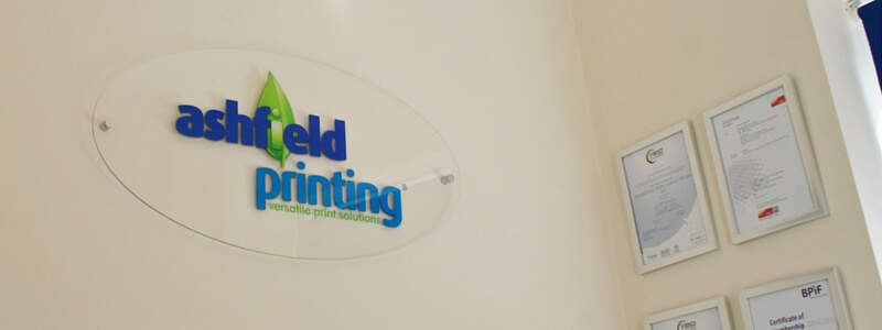 image of a printed acrylic sign