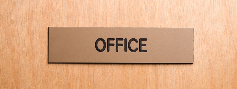 office door plaque