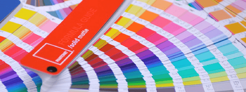 pantone colour match labels with swatch